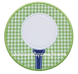 Golf Ball Patch Applique Design
