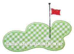 Golf Green Applique Design
