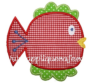 Happy Fish Applique Design