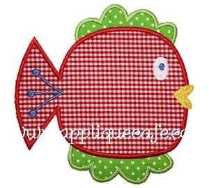 Happy Fish Applique Design