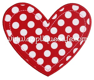 Heart 2 Applique Design