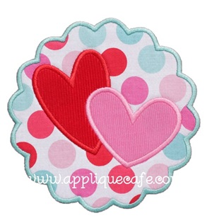 Heart Patch 2 Applique Design