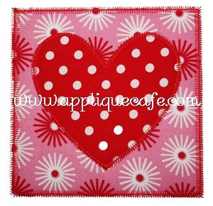 Heart Patch Applique Design