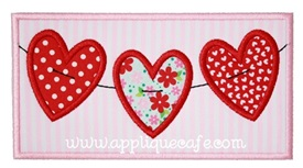 Heart Patch 3 Applique Design