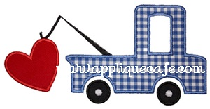Heart Truck Applique Design