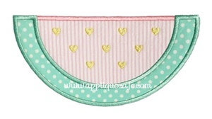 Heart Watermelon Applique Design