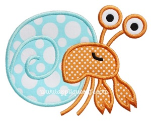 Hermit Crab Applique Design