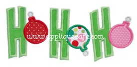 HoHoHo Applique Design