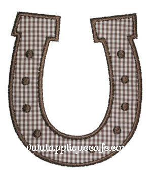 Horseshoe Applique Design