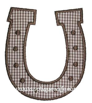 Horseshoe Applique Design