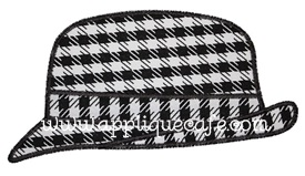 Houndstooth Hat Applique Design