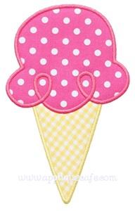 Ice Cream Cone 2 Applique Design