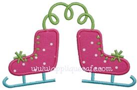 Ice Skates 2 Applique Design