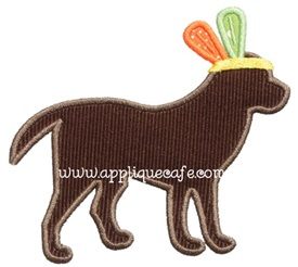 Indian Dog Applique Design