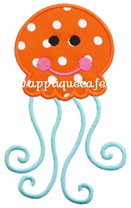 Jellyfish 2 Applique Design