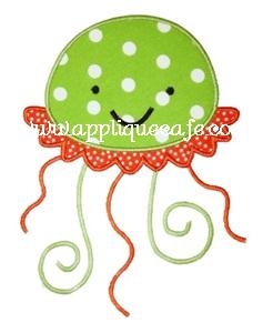 Jellyfish Applique Design
