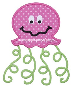 Jellyfish 3 Applique Design