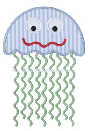 #850 Jellyfish 4 Applique Design