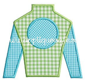 Jockey Silk Applique Design