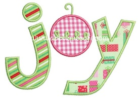 Joy 2 Applique Design