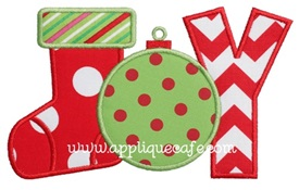 Joy 4 Applique Design