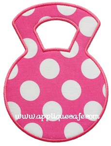 Kettle Bell Applique Design