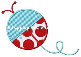 Ladybug 2 Applique Design