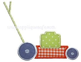 Lawnmower Applique Design