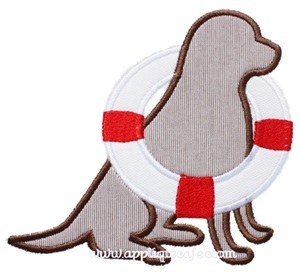 Lifeguard Dog Applique Design