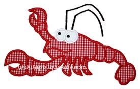 Lobster Applique Design