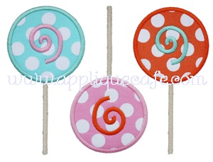 Lollipop Trio Applique Design