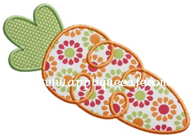 Loopy Carrot 2 Applique Design