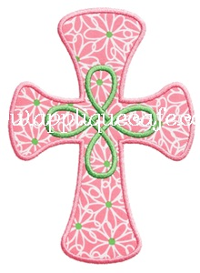 Loopy Cross Applique Design