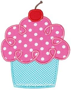 Loopy Cupcake Applique Design