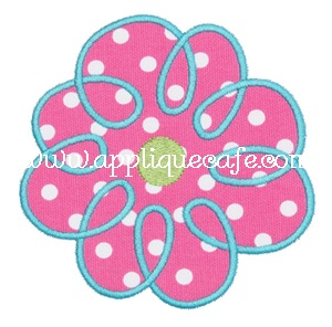 #329 Loopy Flower Applique Design