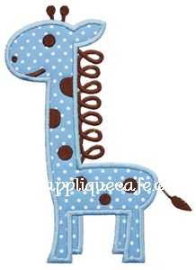 Loopy Giraffe Applique Design