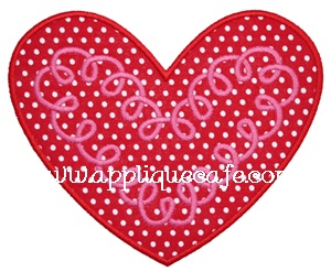 Loopy Heart Applique Design