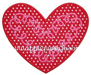 Loopy Heart Applique Design