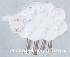 Loopy Sheep Applique Design