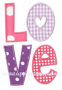Love 2 Applique Design