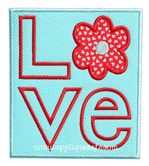 Love 3 Applique Design