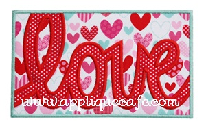 Love Patch Applique Design