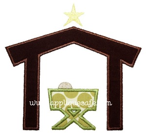 Manger Applique Design