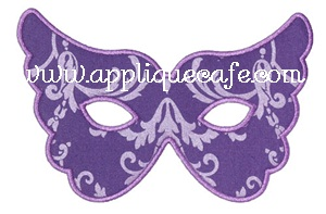 Mardi Gras Mask 2 Applique Design