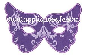 Mardi Gras Mask 2 Applique Design