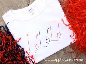 Megaphone Trio Embroidery Design