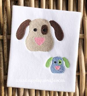 Mini Puppy Face 3 Embroidery Design