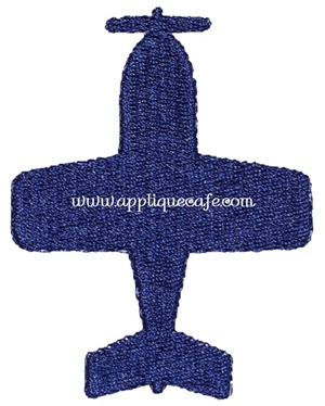 Mini Airplane Embroidery Design