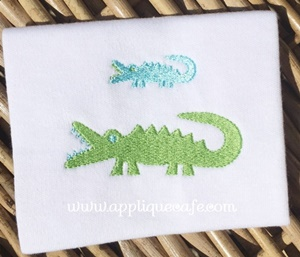 Mini Alligator Embroidery Design