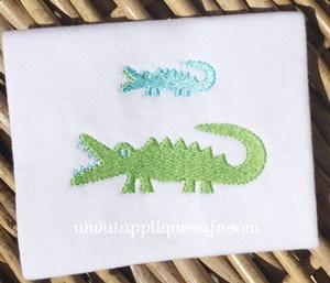 Mini Alligator Embroidery Design
